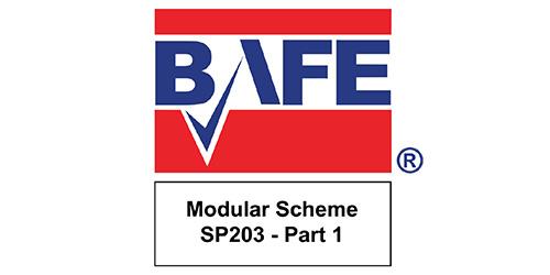 Caldera Fire and Security - Accreditations - BAFE Modular Scheme SP203 Part 1